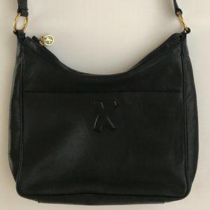 Paloma Picasso Black Leather Shoulder Bag